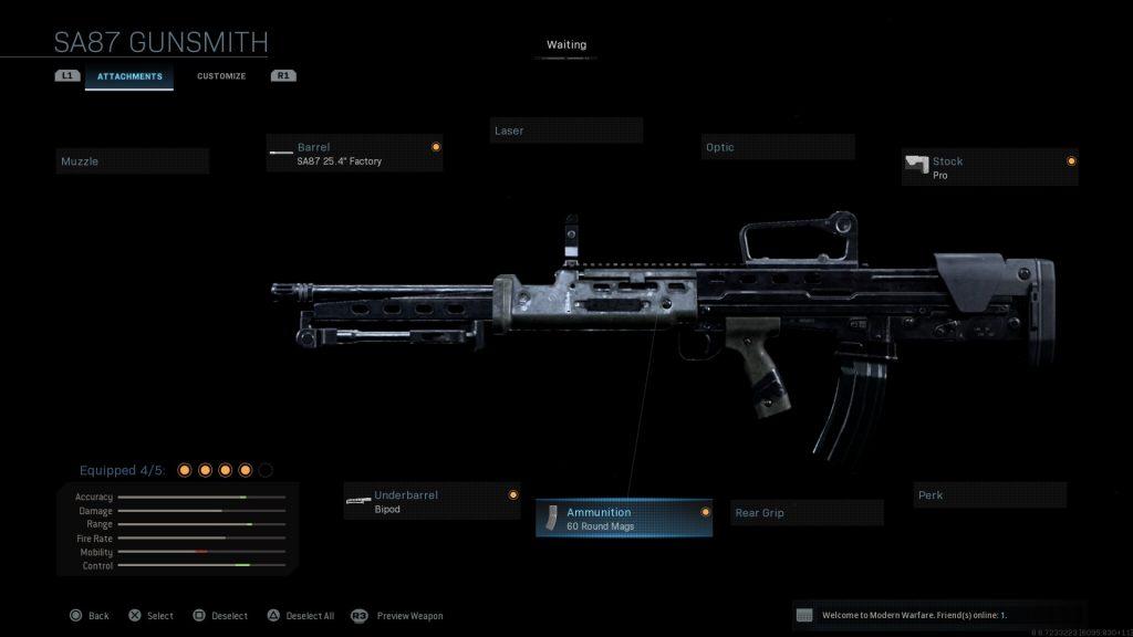 Call of Duty Modern Warfare geheime Waffen LSW
