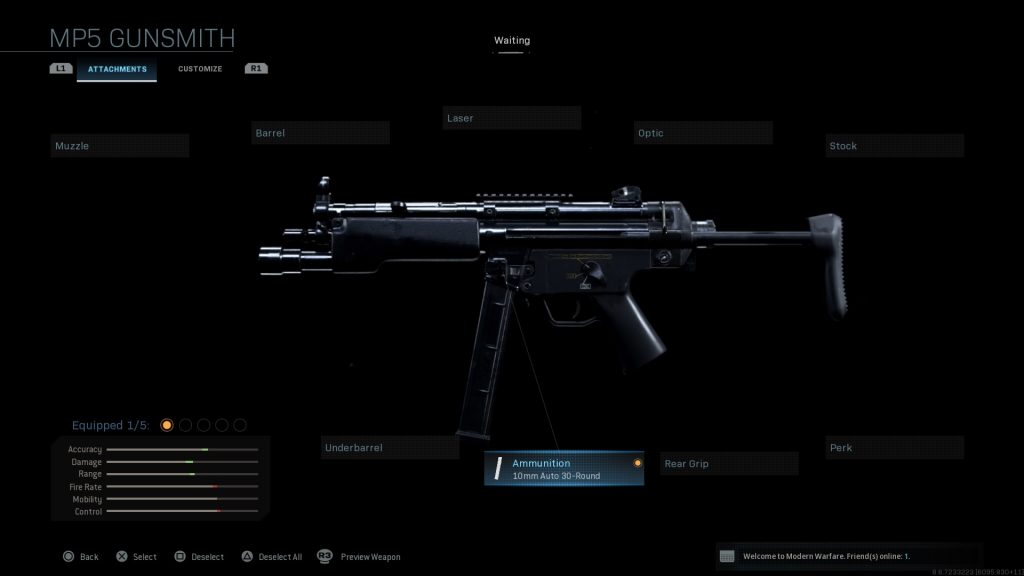 Call of Duty Modern Warfare geheime Waffen MP5 10