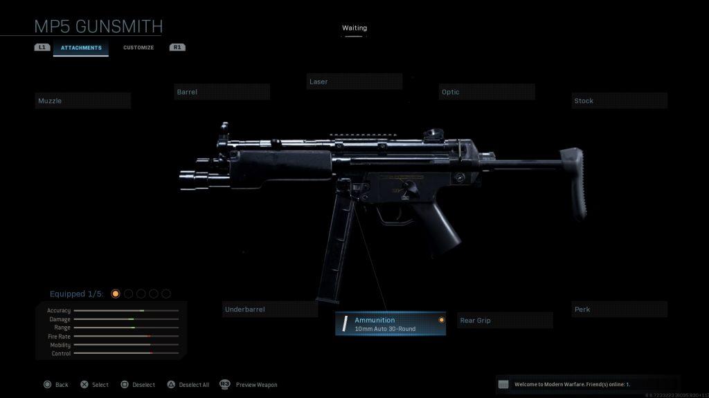 Call of Duty Modern Warfare geheime Waffen MP5 10