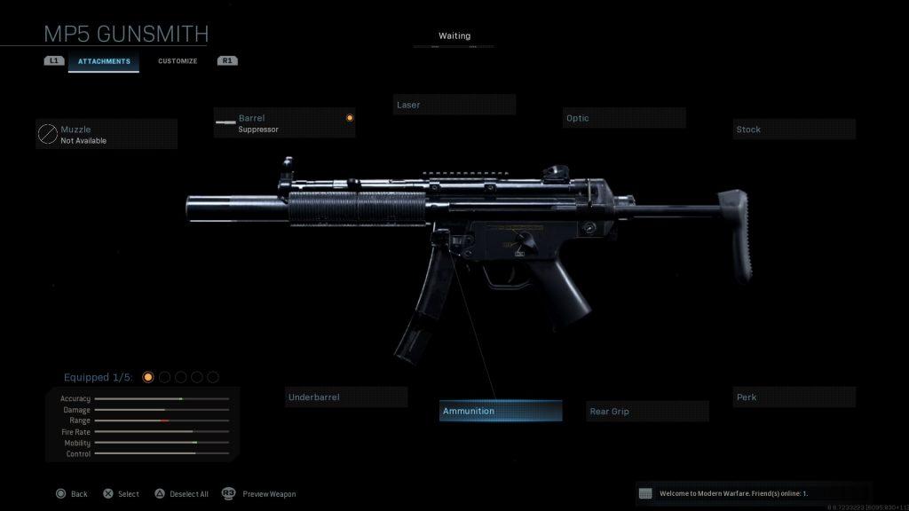Call of Duty Modern Warfare geheime Waffen MP5 SSD