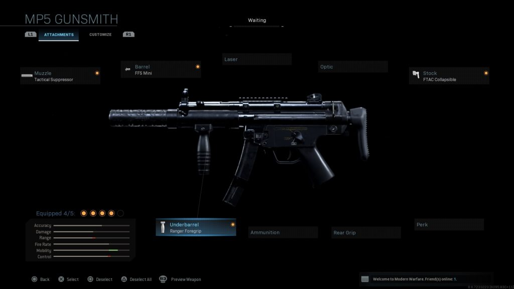 Call of Duty Modern Warfare geheime Waffen MP5K