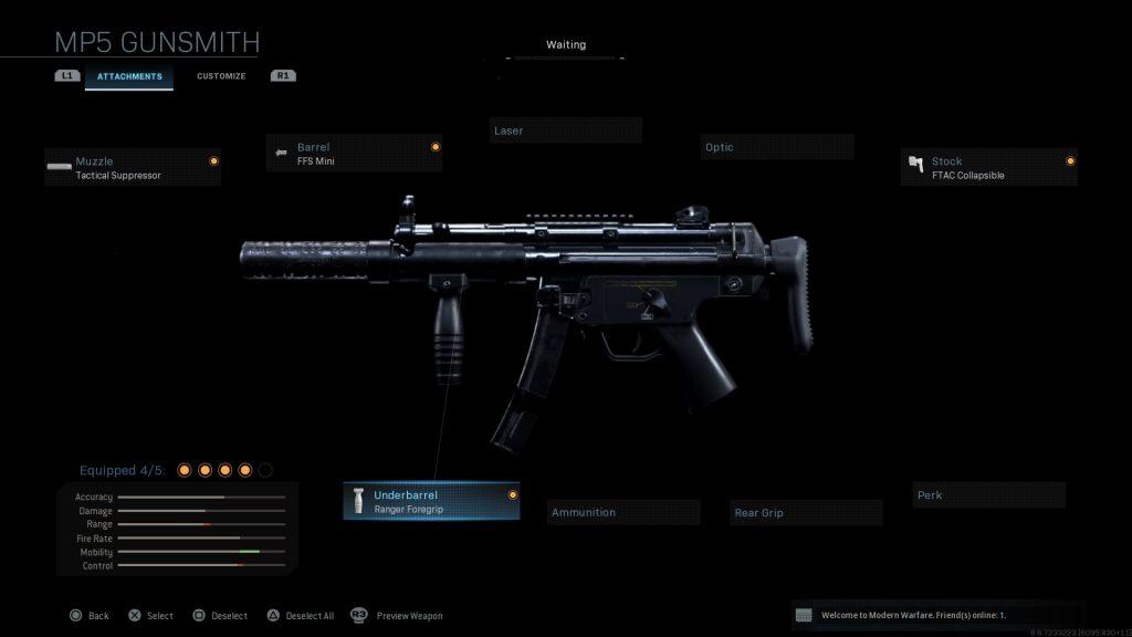 Call of Duty Modern Warfare geheime Waffen MP5K