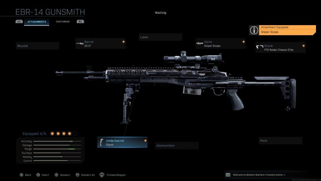 Call of Duty Modern Warfare geheime Waffen Mk 14 EBR