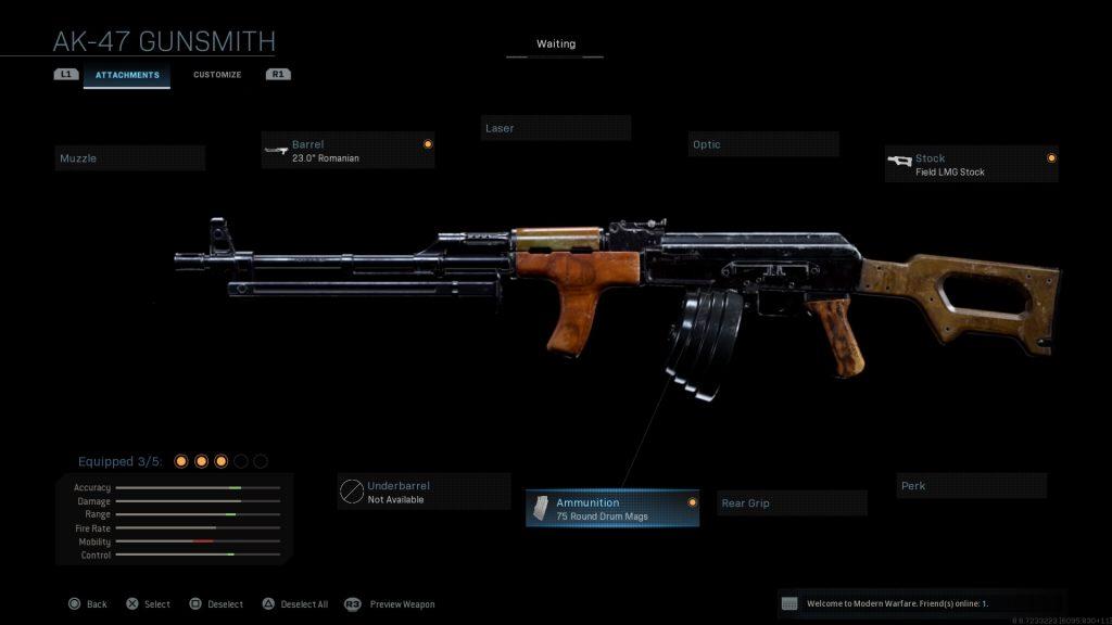 Call of Duty Modern Warfare geheime Waffen RPD