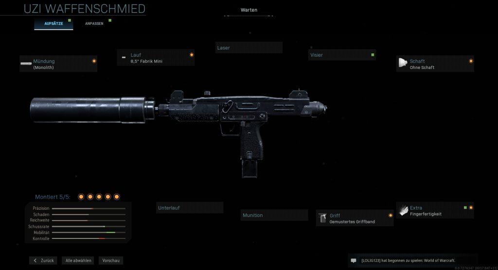Call of Duty Modern Warfare run and gun uzi