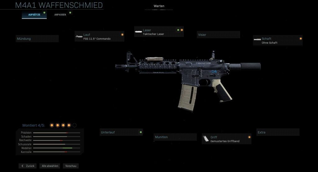 Call of Duty Modern Warfare schnelle m4