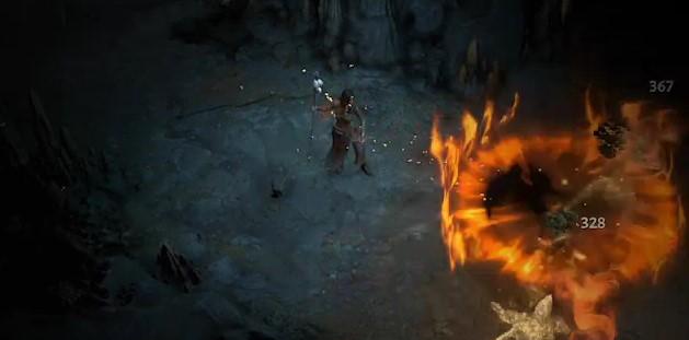 Diablo 4 Zauberin Flammenmeteor