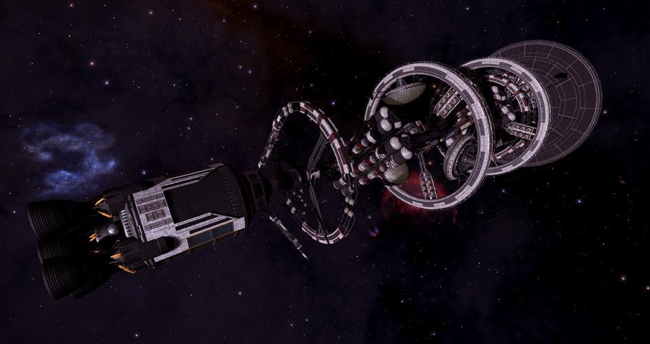 Ein Generationen-Schiff aus Elite Dangerous
