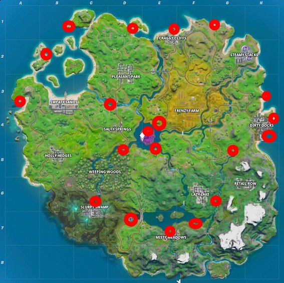Fortnite-Motorboote-Map