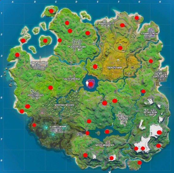 Orientierungspunkte auf der Map