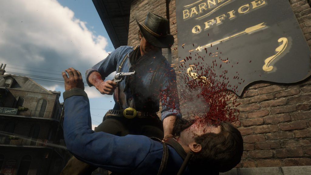 Red Dead Redemption 2 Fotomodus Arthur Blut