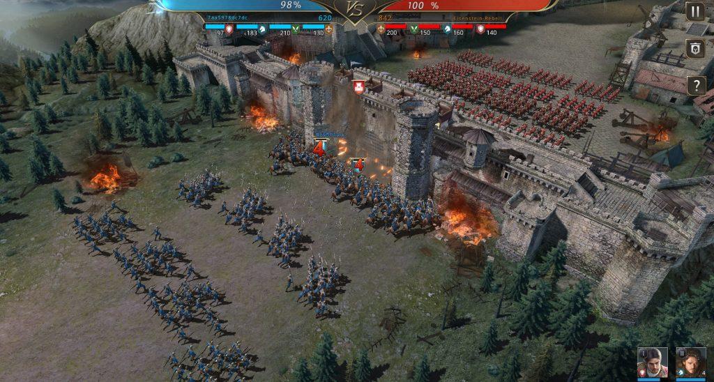 Simulation eines Kampfes im GoT MMO