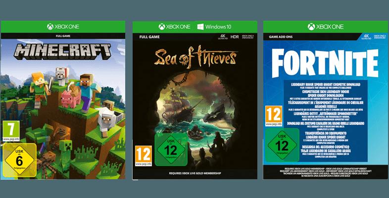 Black Friday Angebot für die Xbox One S All Digital mit diesen drei Spielen.