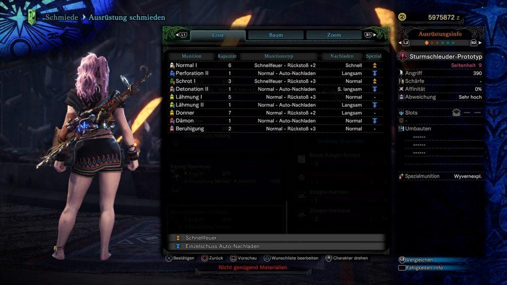 Monster Hunter World: Iceborne Aloy Waffe Sturmschleuder-Prototyp