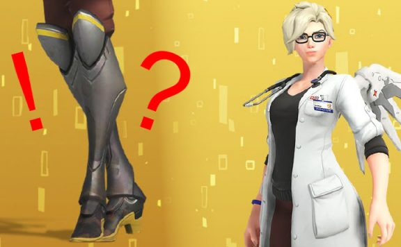 Overwatch Mercy New Skin Doctor with feet title 1140×445