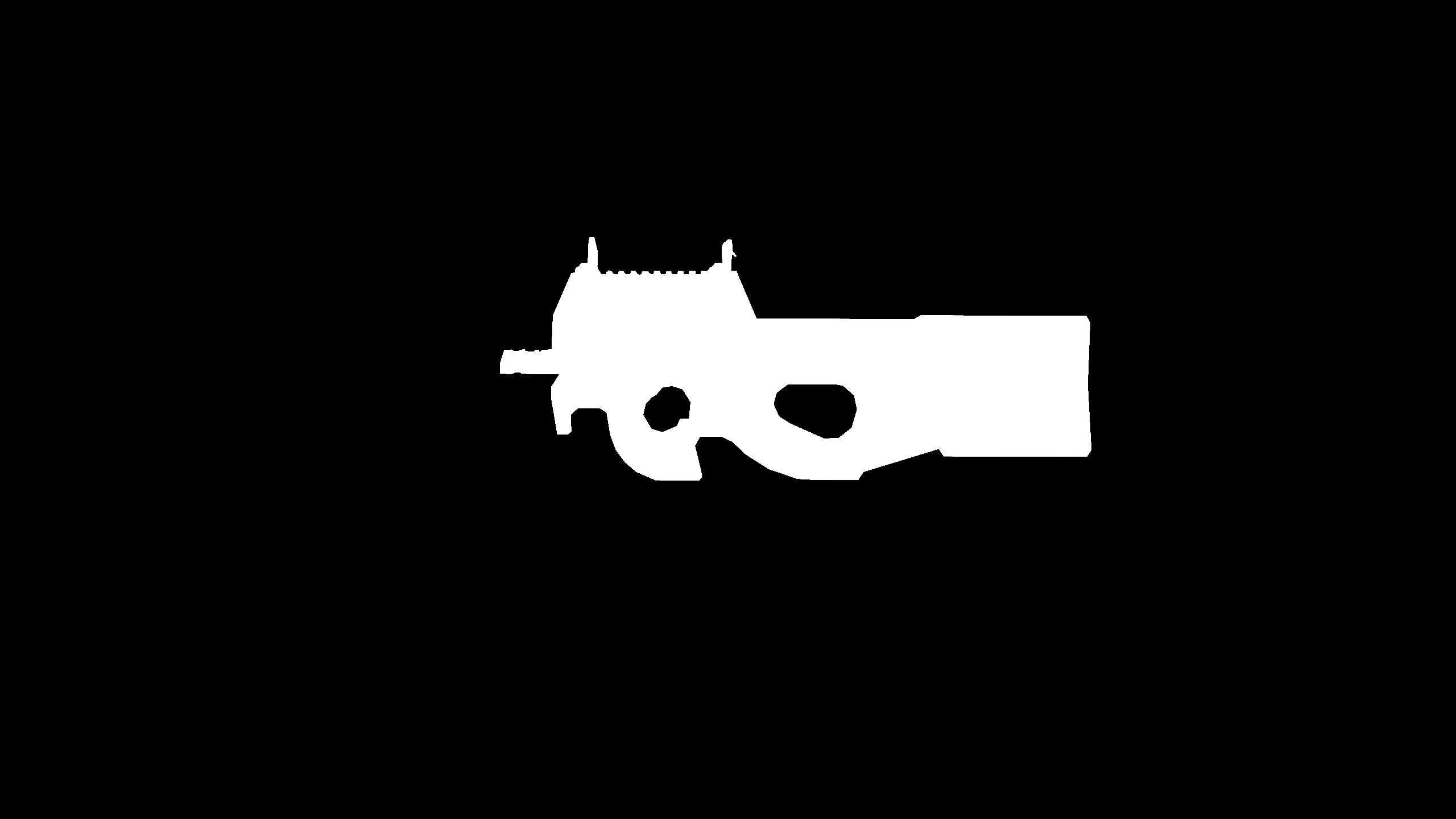 P90 umriss