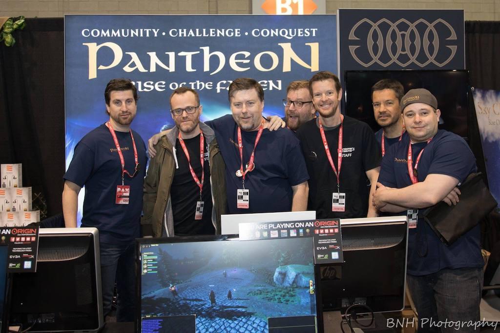 Das Team des MMORPGs Pantheon