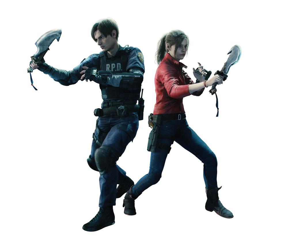 Monster Hunter World Resident Evil 2 Leon Claire