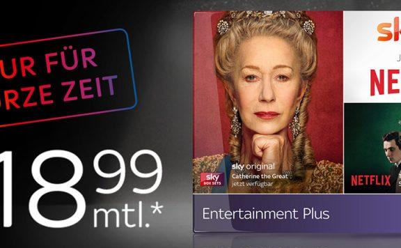 Sky und Netflix für 18,99 Euro.