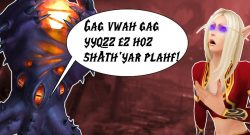 WoW Nzoth talking blood elf title 1140x445