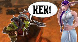 WoW Orc Kek night elf laughing title 1140×445