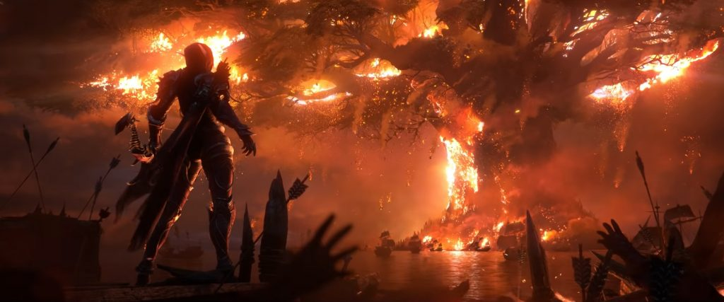 WoW Sylvanas Teldrassil Burning