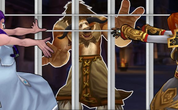 WoW Tauren Prison Bars Priests casting channel title 1140x445