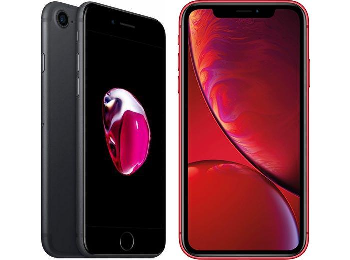 Das iPhone 7 und das iPhone XR im Angebot bei OTTO.