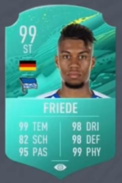 Sidney Friede Pro-Player-Karte