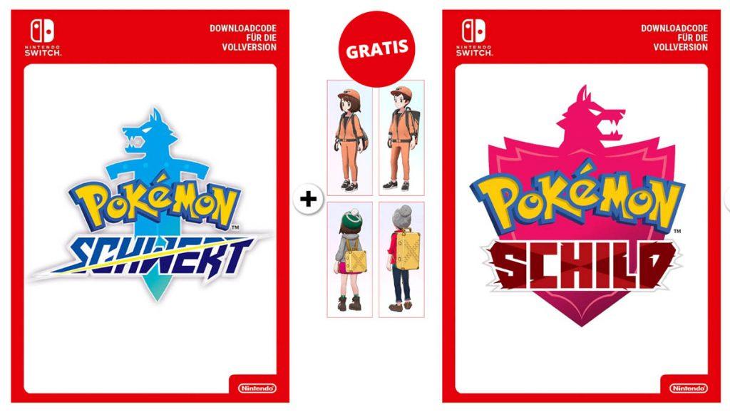Pokémon Schild und Schwert Vorbesteller-Bonus.