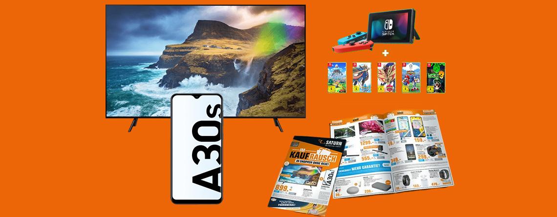 Saturn Prospekt Angebote: Samsung 4K TV & Nintendo Switch günstiger