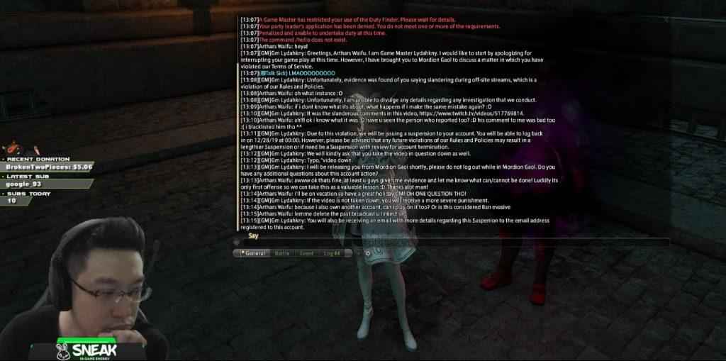 final fantasy xiv arthars sperre