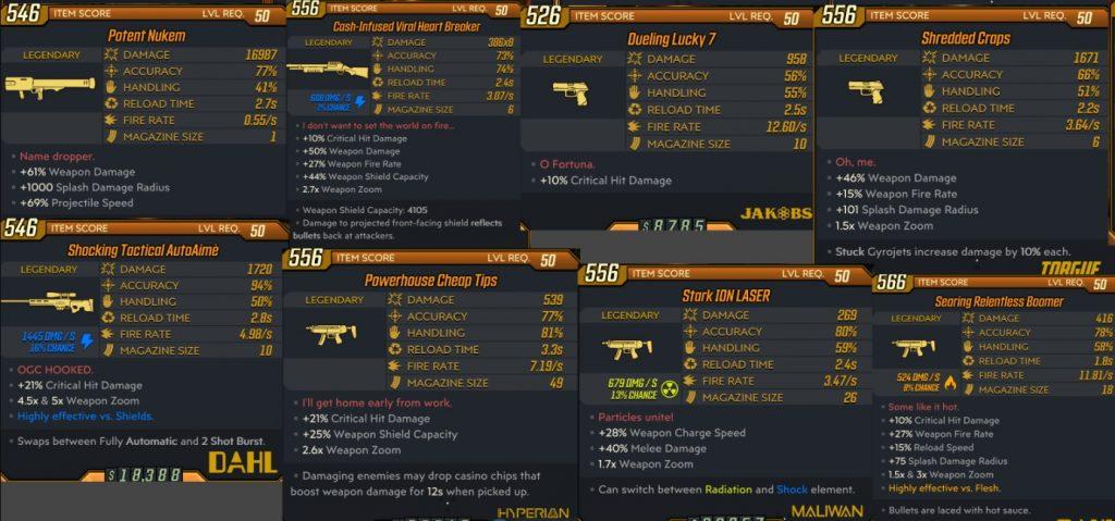 Borderlands 3 11 neue legendäre Waffen DLC