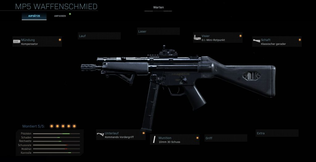Call fo Duty Modern Warfare Allrounder MP5