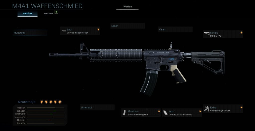 Call fo Duty Modern Warfare M4A1 Allrounder