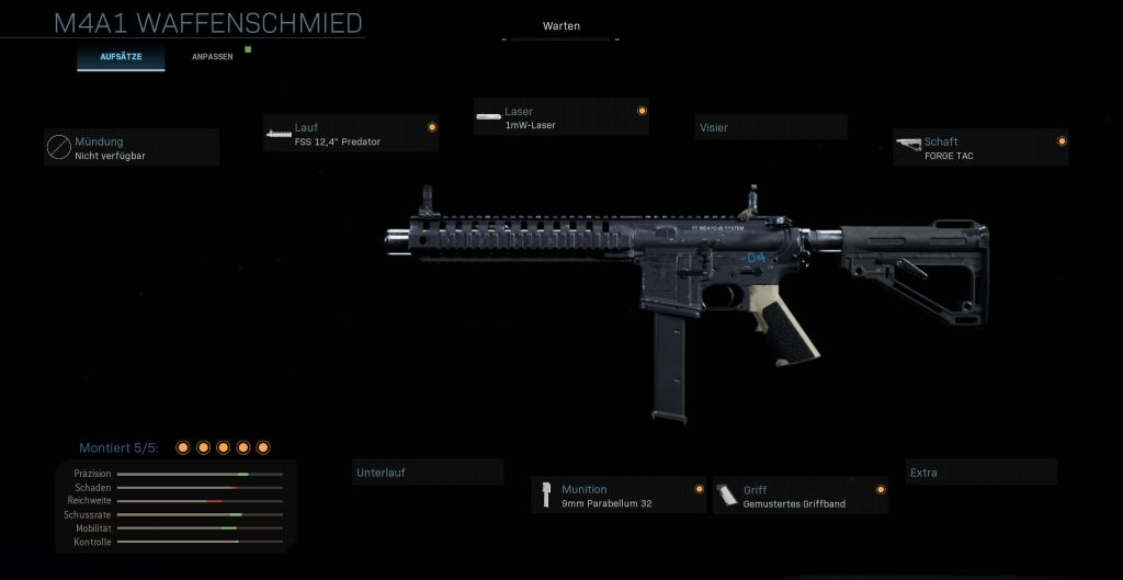 Call fo Duty Modern Warfare M4A1 Run and Gun
