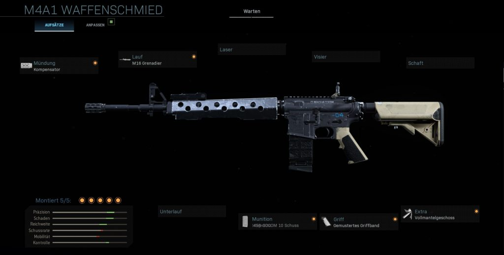 Call fo Duty Modern Warfare M4A1 taktisch
