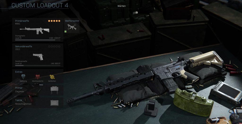 Call fo Duty Modern Warfare M4A1 taktisch klasse
