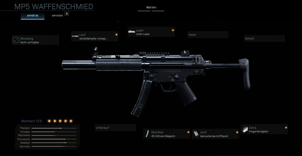 Call fo Duty Modern Warfare Stealth MP5