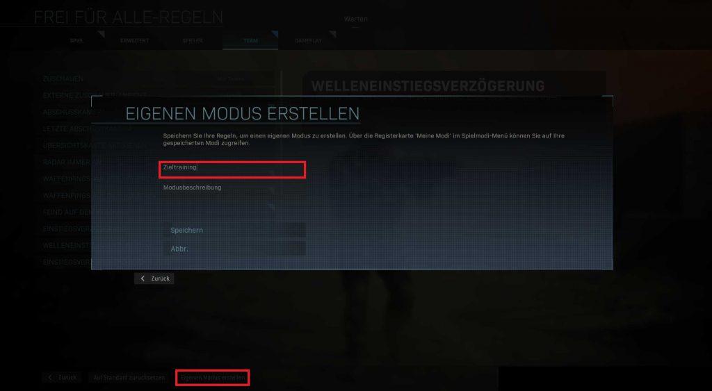 Call fo Duty Modern Warfare Zeiltraining privates Spiel