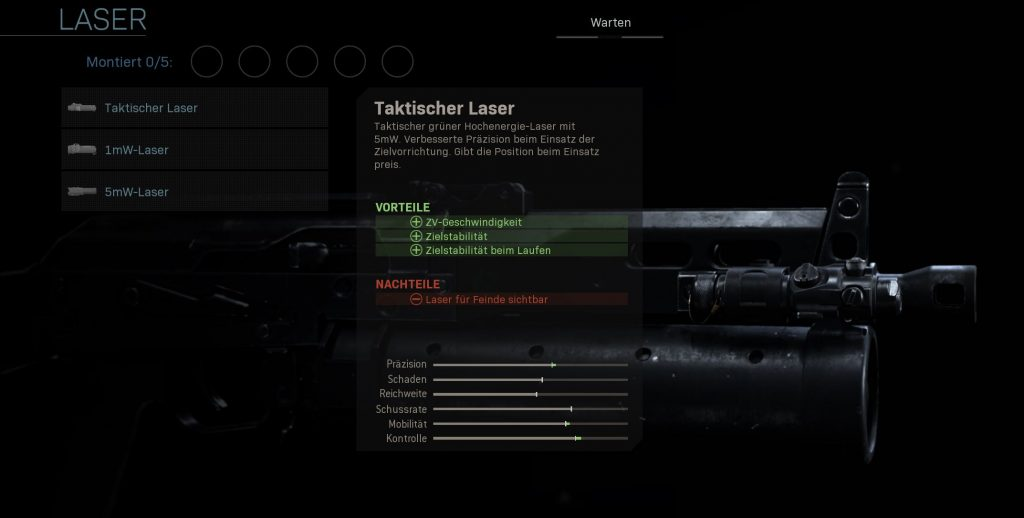 Call fo Duty Modern Warfare taktischer laser
