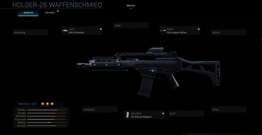 Call of Duty Modern Warfare g36k