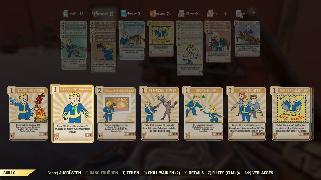 Fallout 76 Charisma Perks