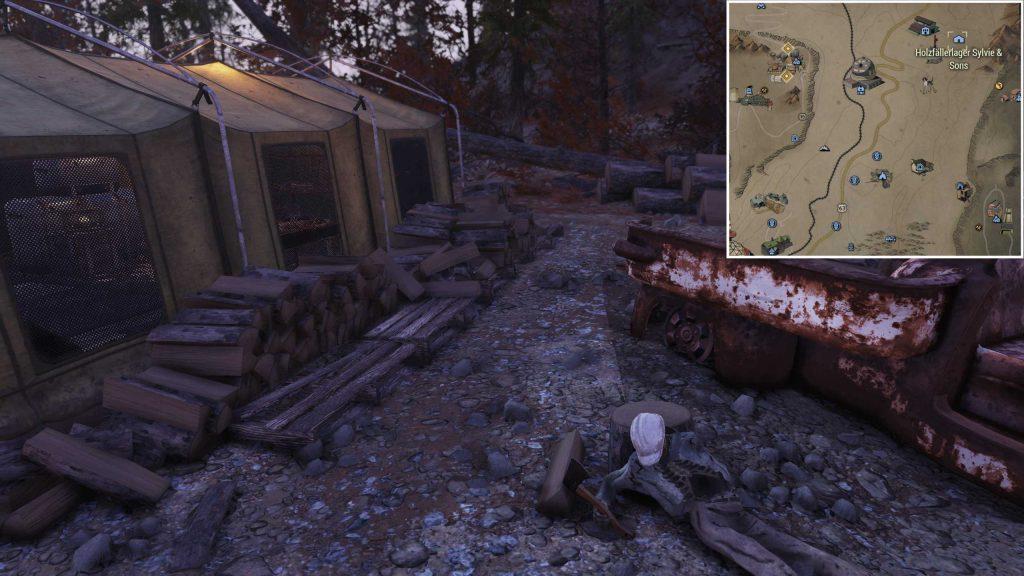 Fallout 76 Holzhaufen