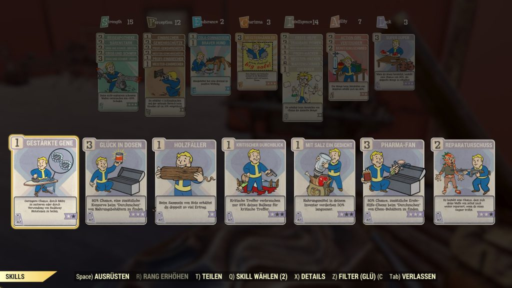 Fallout 76 Luck Perks