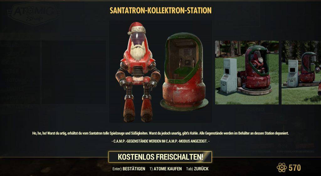 Fallout 76 Santatron atom-shop 2