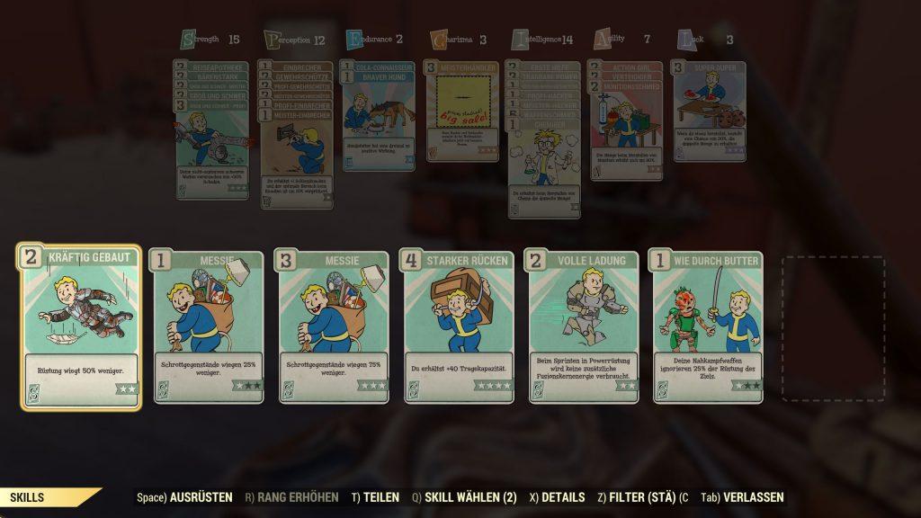 Fallout 76 Stärke Perks