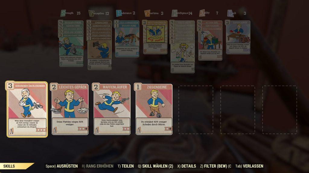 Fallout 76 agility Perks