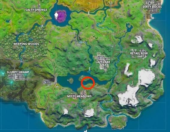 Fortnite-Motorboot-Zeitrennen-Map