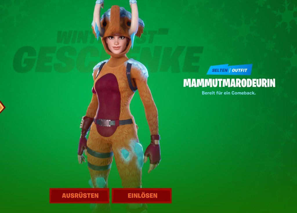 Fortnite-Outfit-Mammutmarodeurin